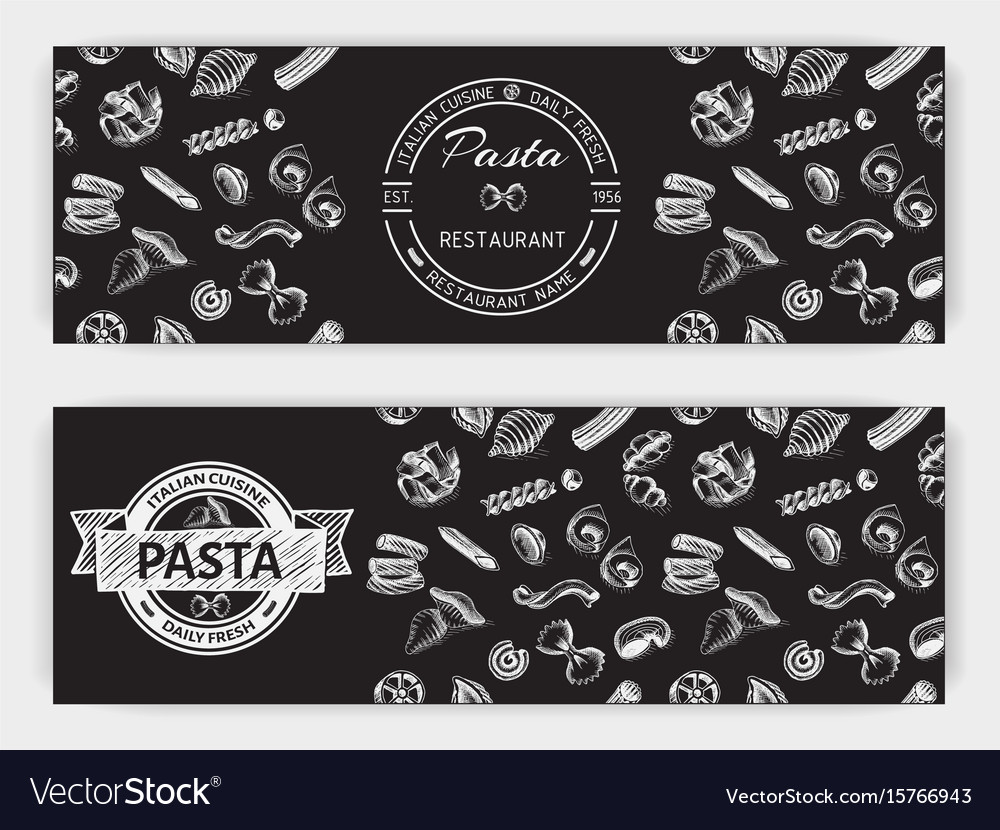 Sketch - pasta banner italian