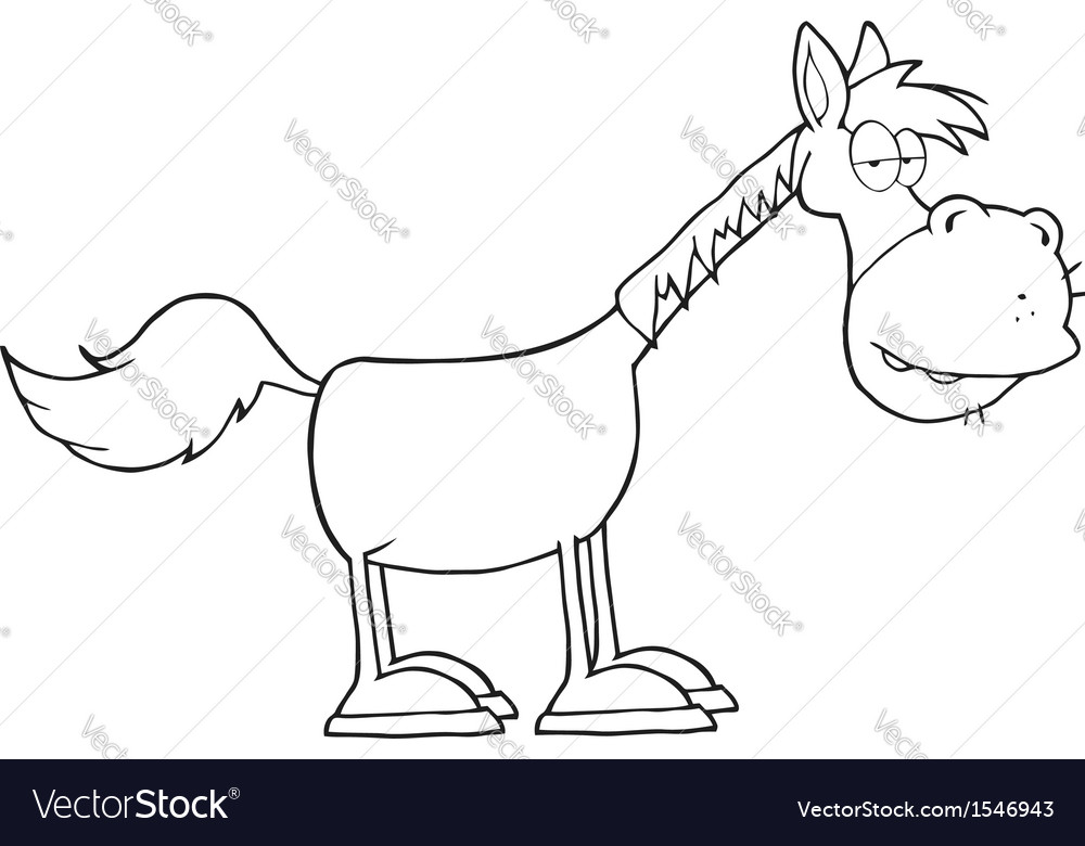 Sleepy horse cartoon vector image