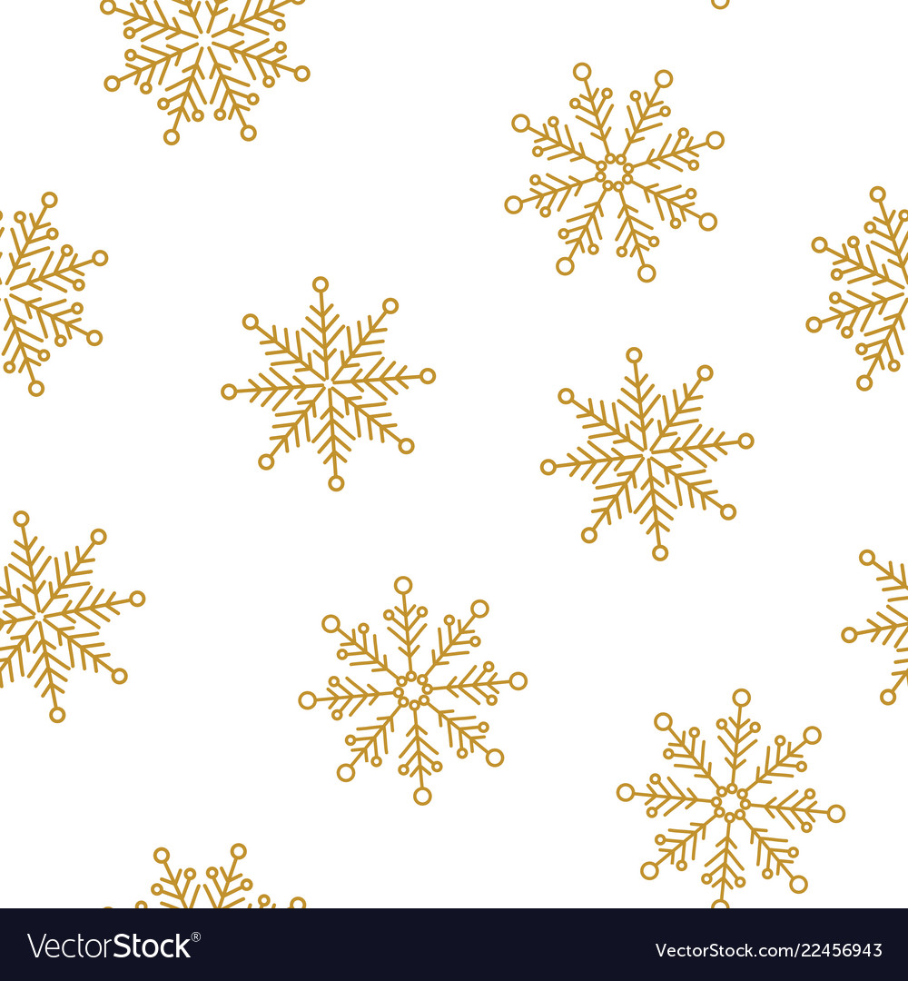 Snowflakes seamless pattern for christmas
