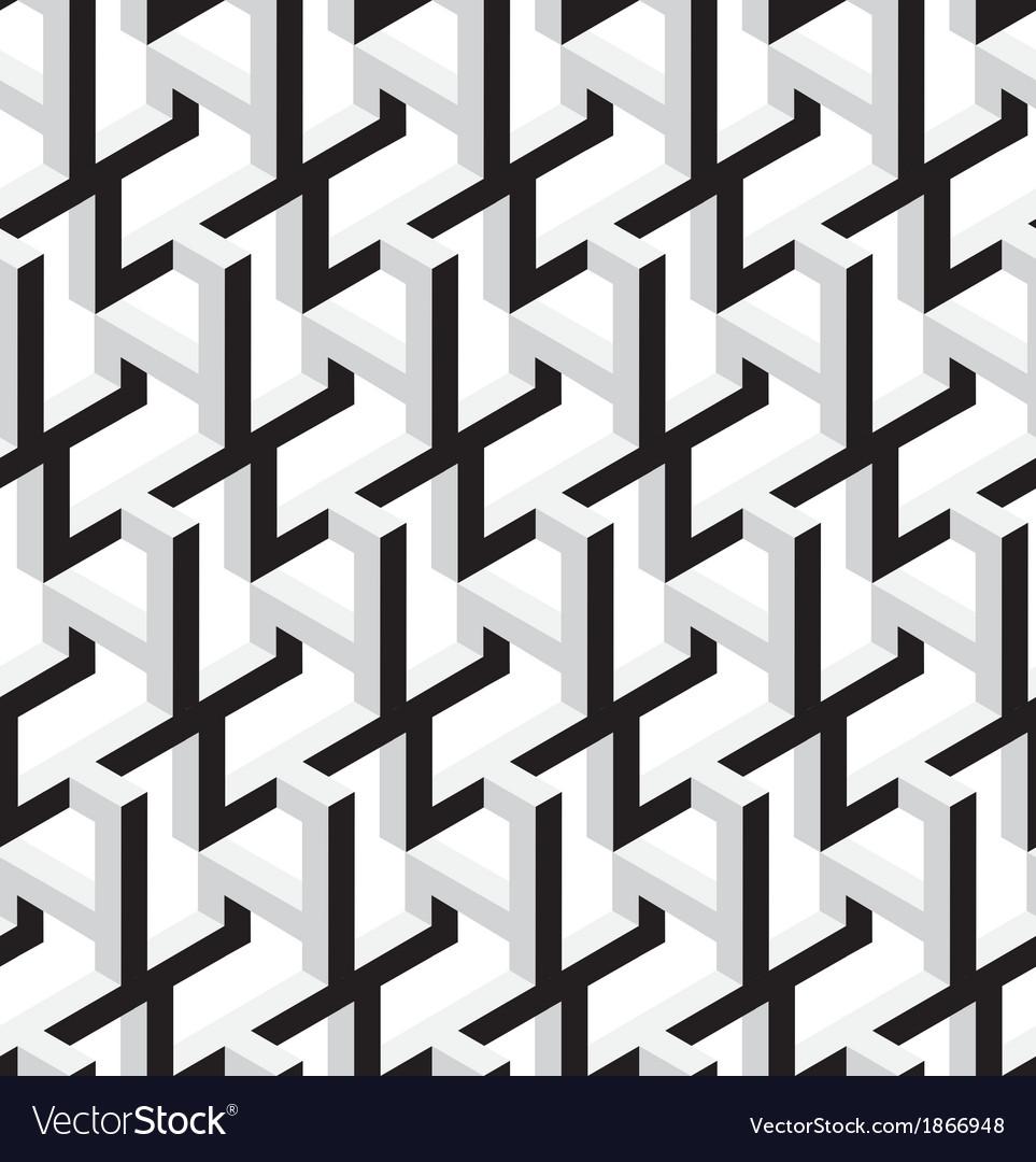 3d Abstract Geometric Seamless Pattern