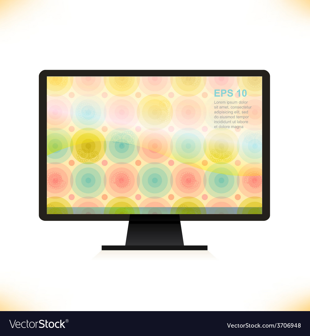 Abstract tv screen design