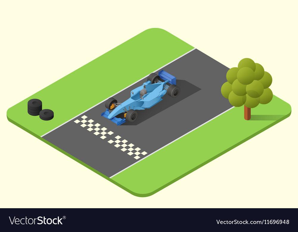 Formula one race car vector image