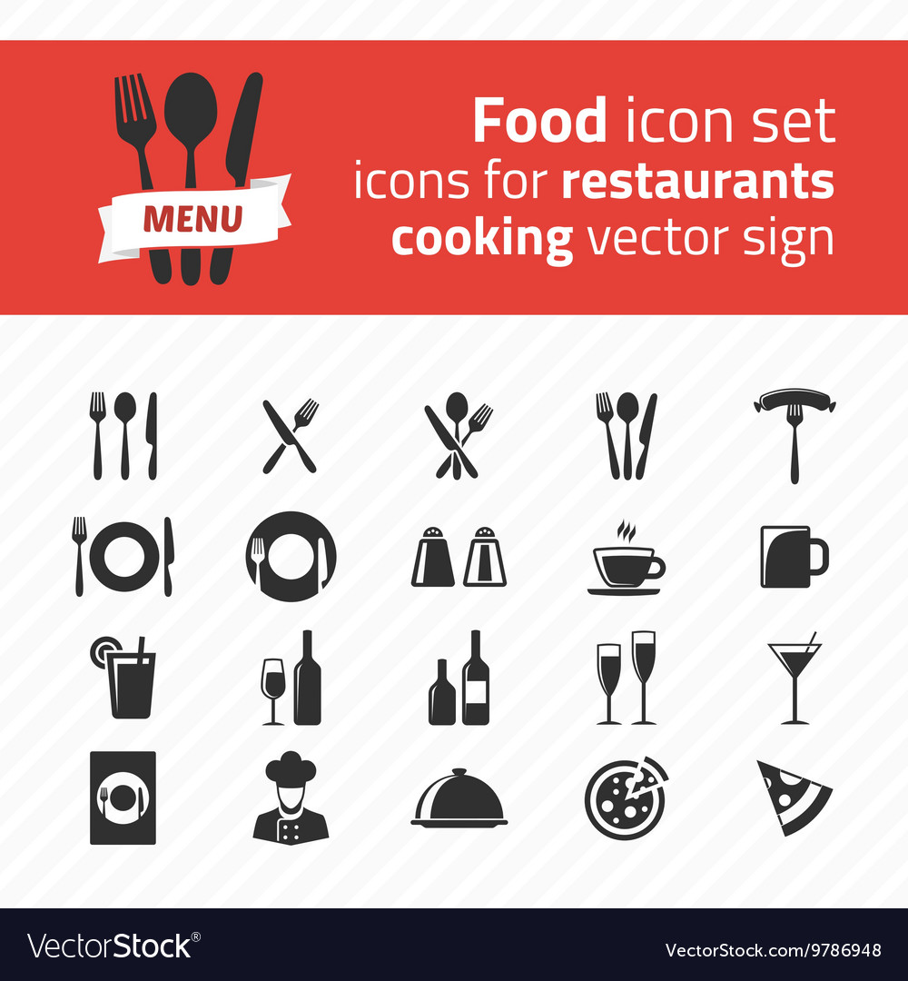 Icons for restaurants
