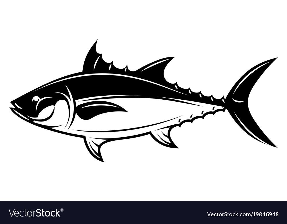 Monochrome with tuna for menu