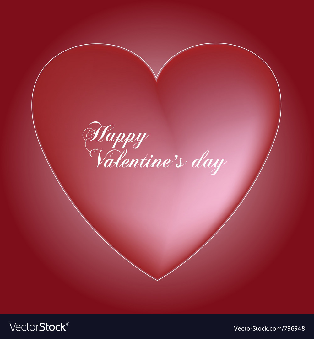 Red valentines heart