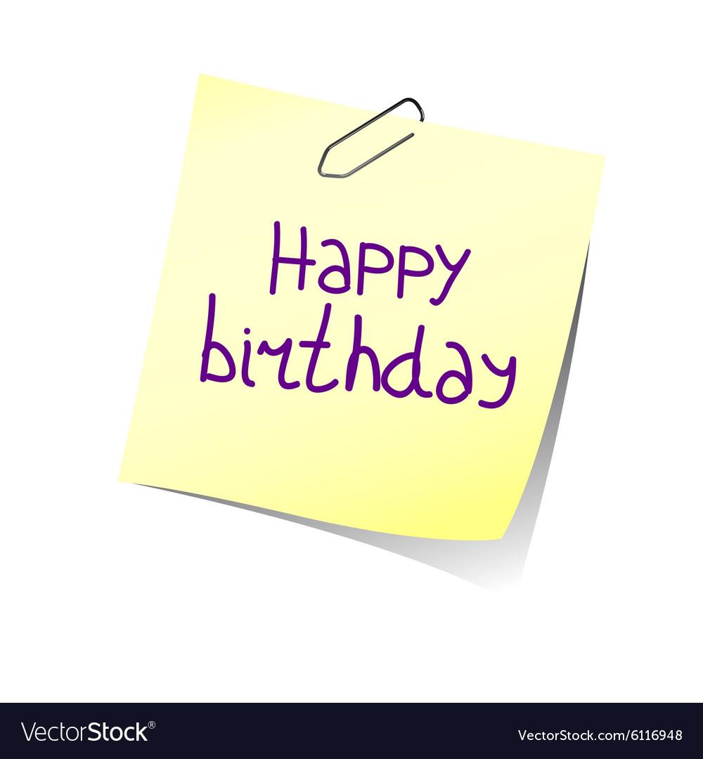 Reminder happy birthday color