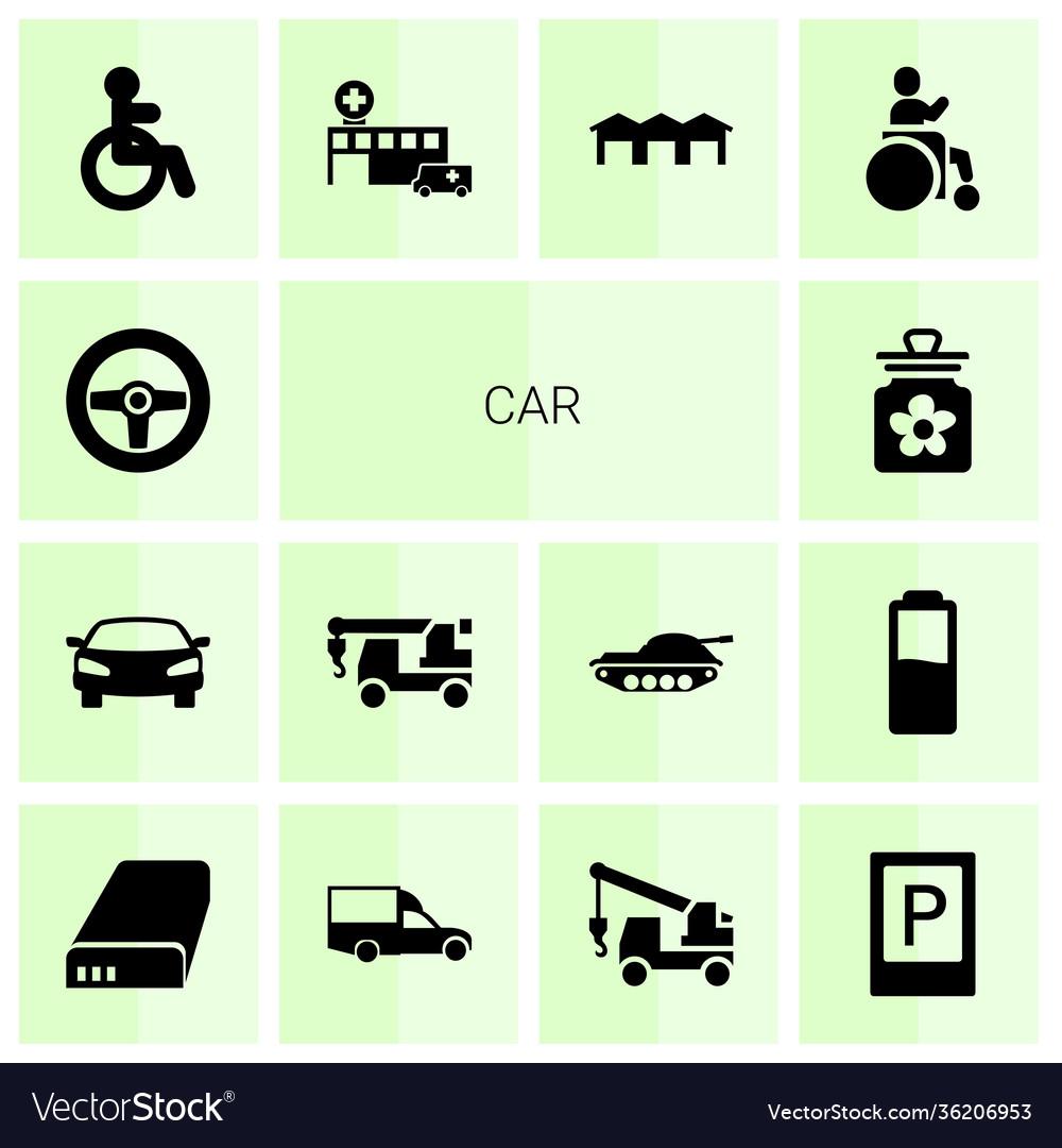 14 car icons