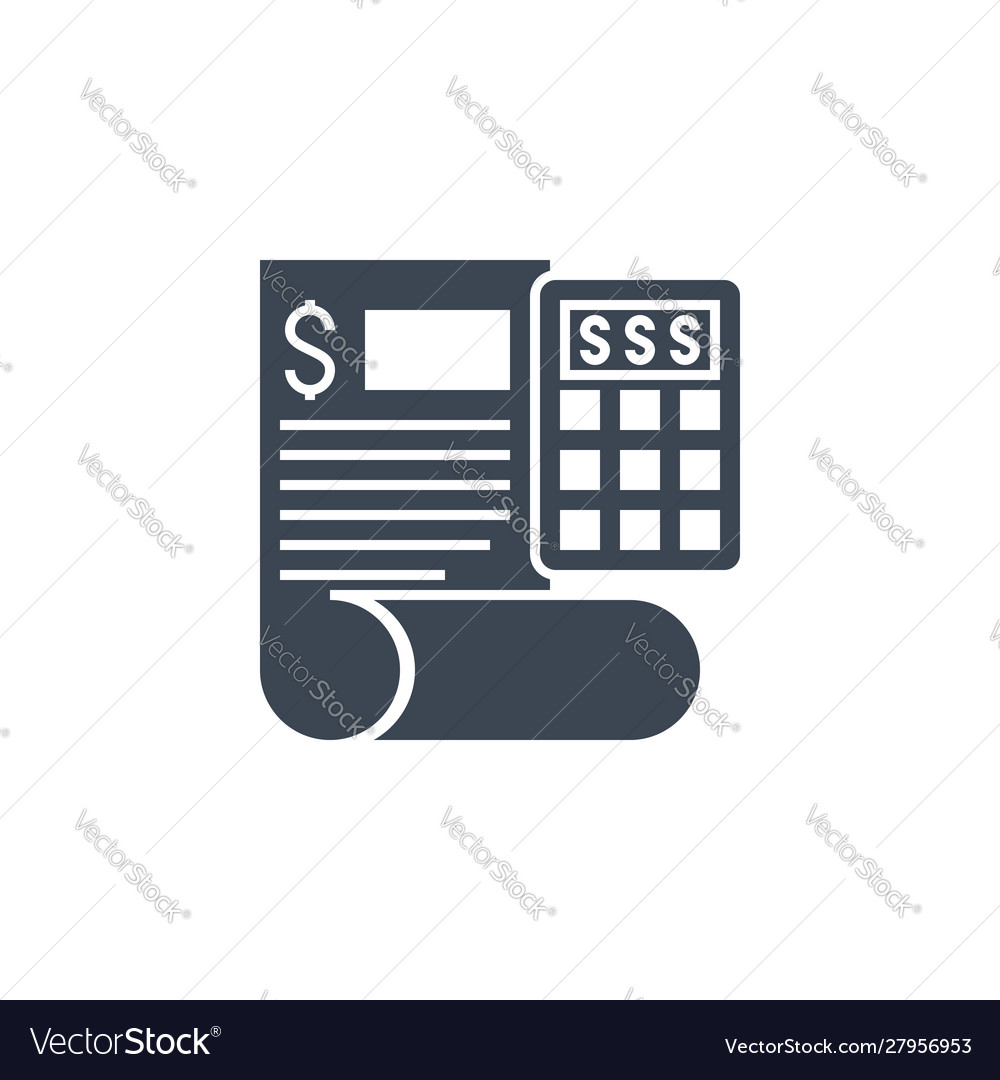 Accounting related glyph icon