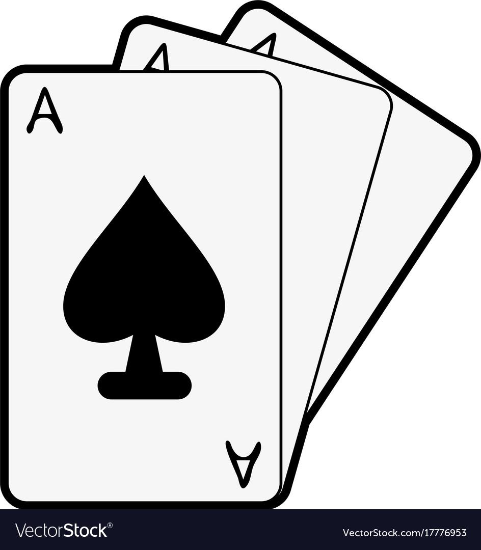 spade card vector  Ace of spades cards icon image