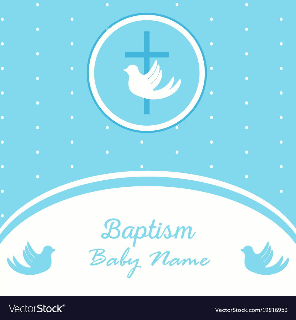 Baptism Invitation Template | Baptism Invitation Template Royalty Free Vector Image