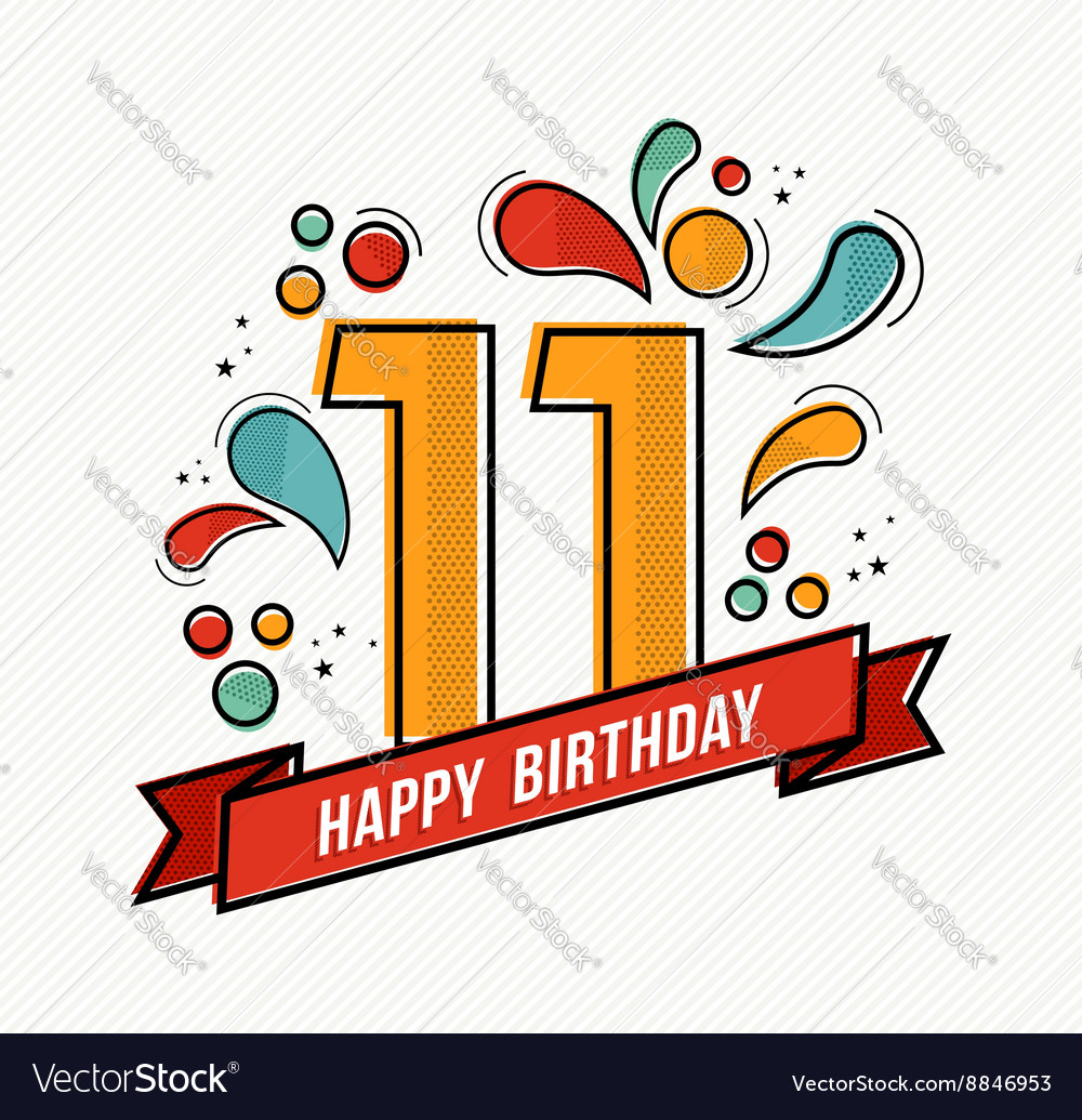 number 11 design for birthday