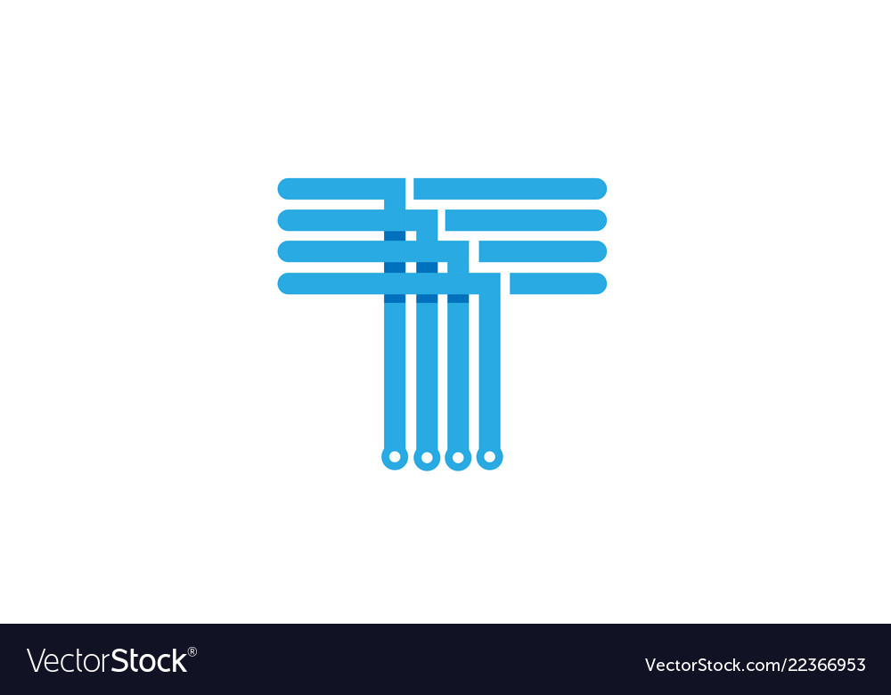 7a6ffcb0 Creative abstract blue letter t logo Royalty Free Vector