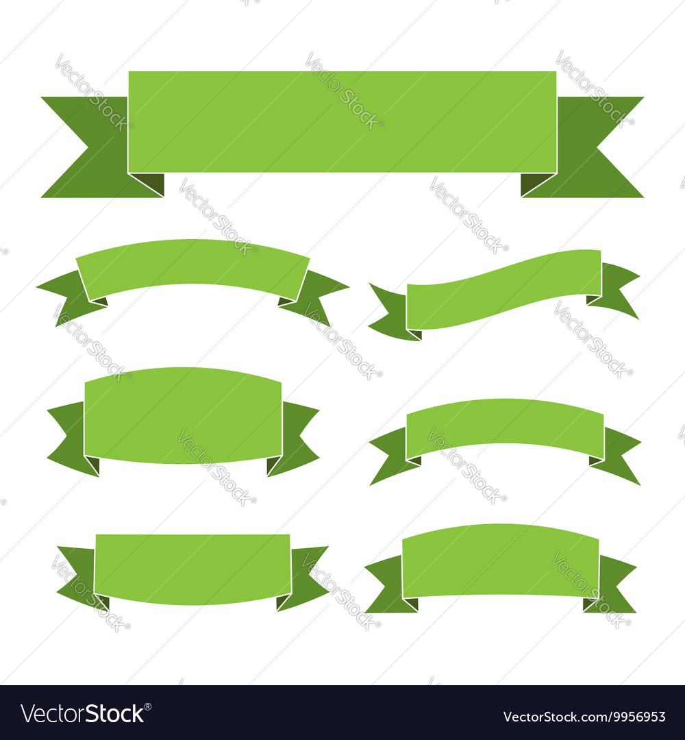 Green ribbon banners set
