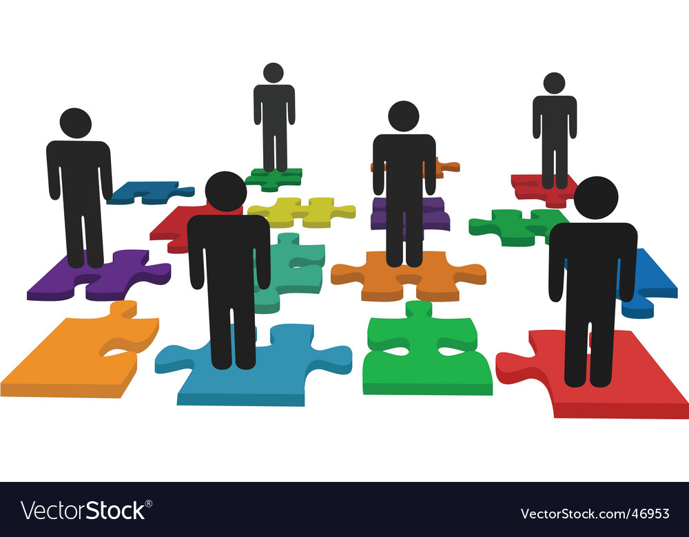 Human resources illustration vector image
