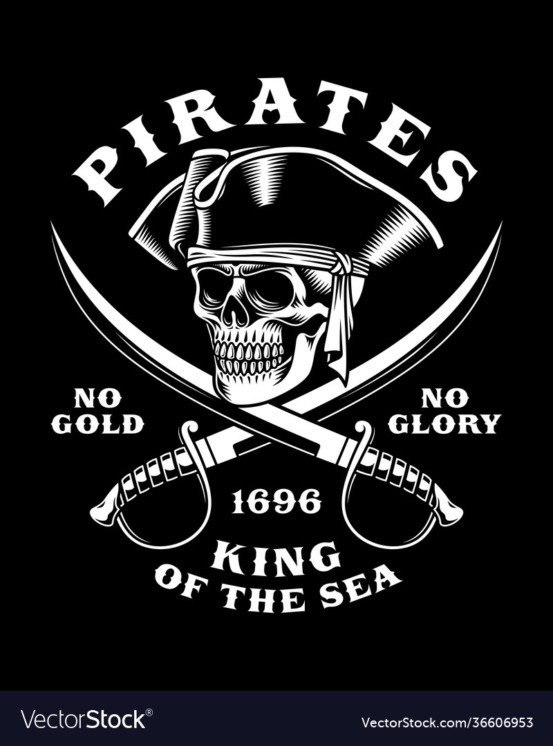 Pirate skull with crossed swords