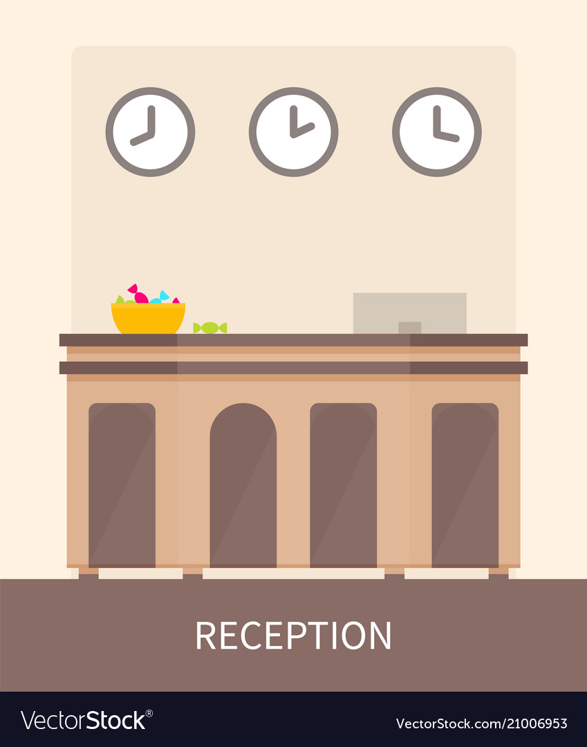 Reception room color poster
