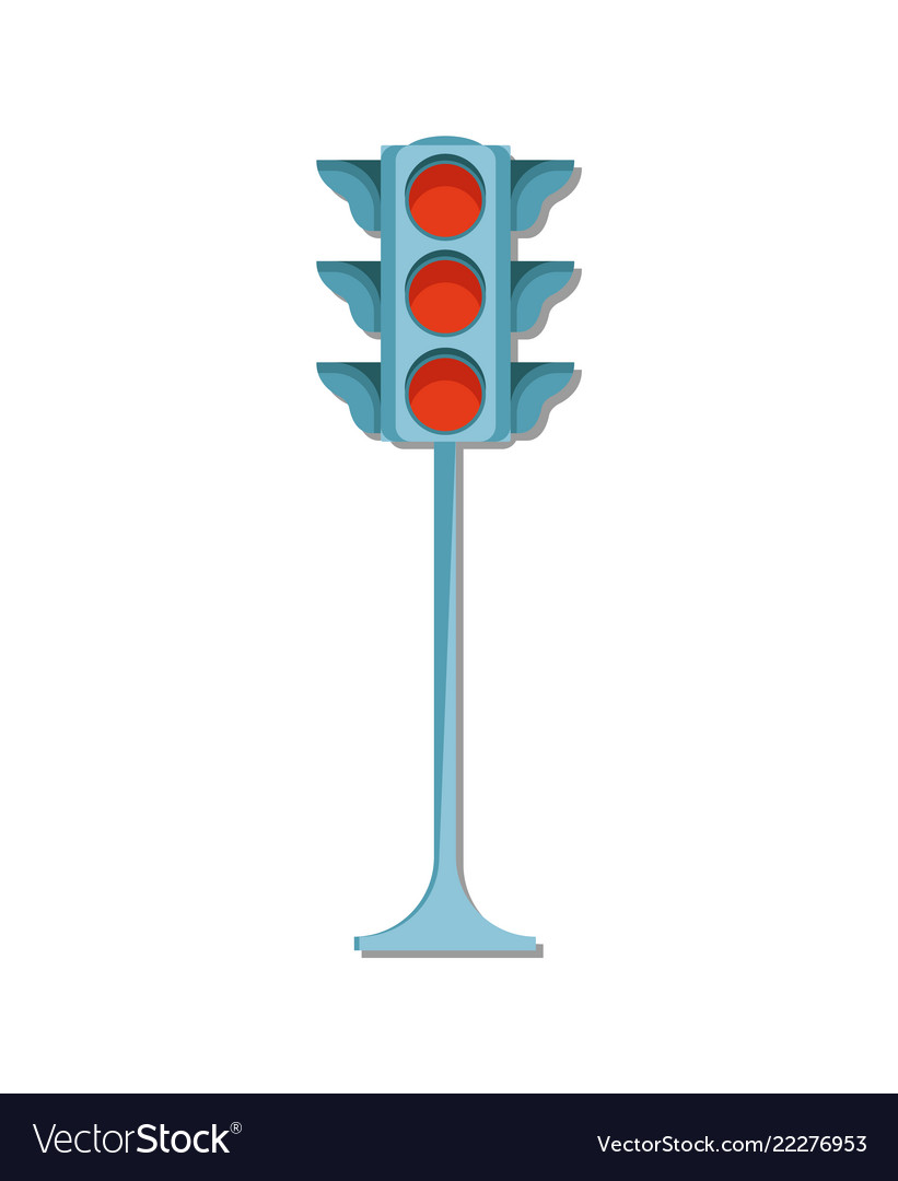 Traffic light icon isolated vector