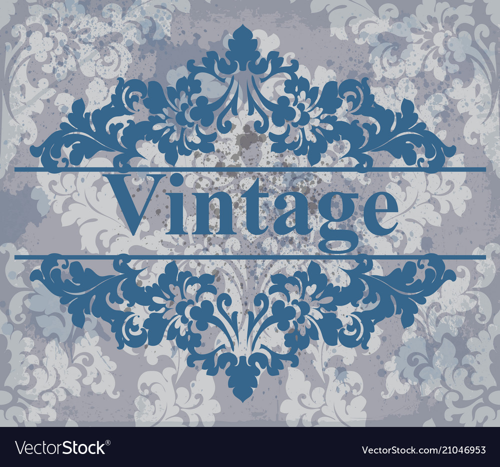 Vintage wallpaper royal ornament elegant