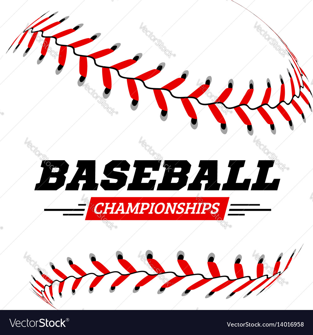 Baseball ball on white background