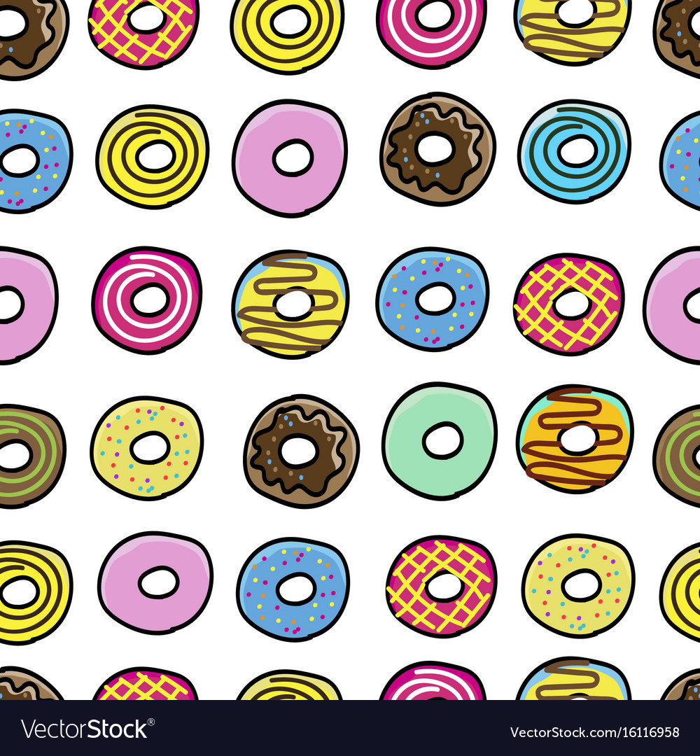 Donuts sweet pattern seamless