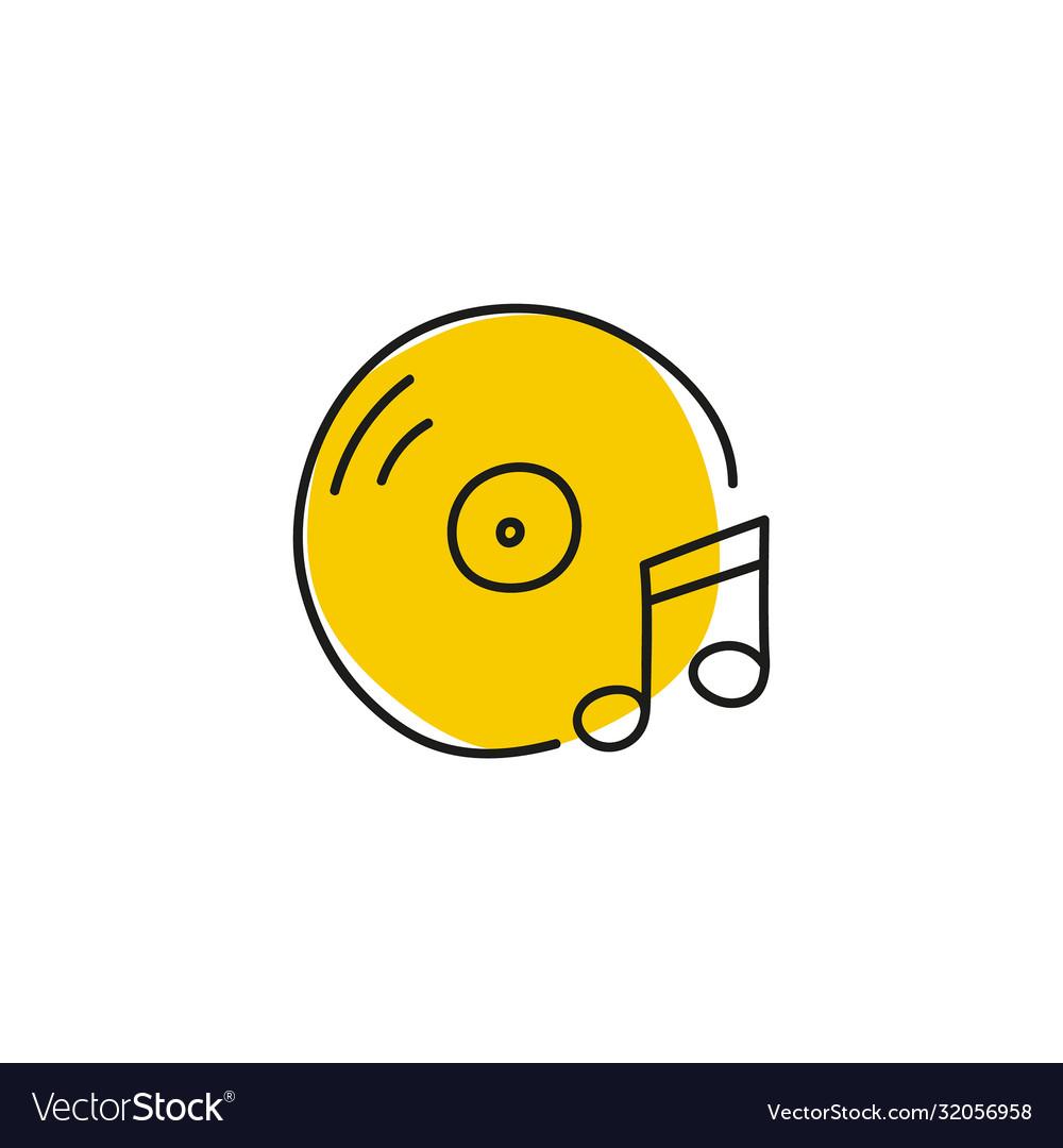 Icon with vinyl record