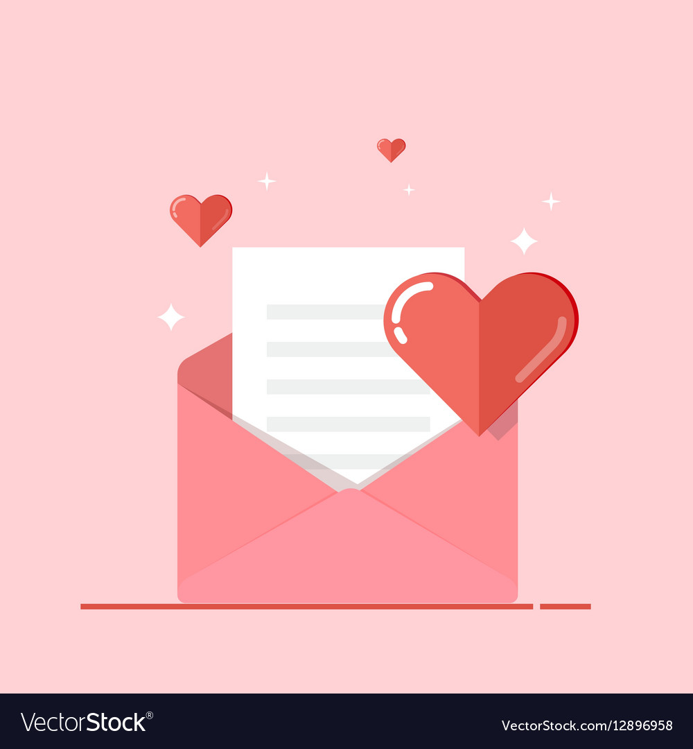Love letter greeting card invitation isolated on vector image stopboris Gallery