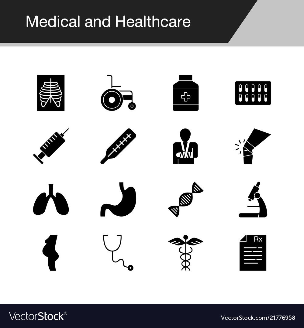 Medical and healthcare icons design