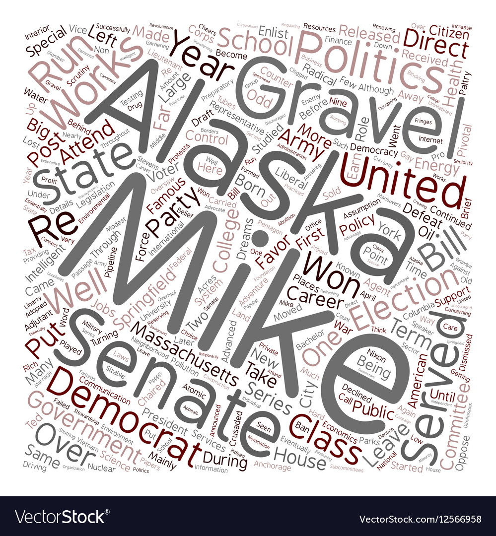 Mike Gravel Democrat 1 text background wordcloud