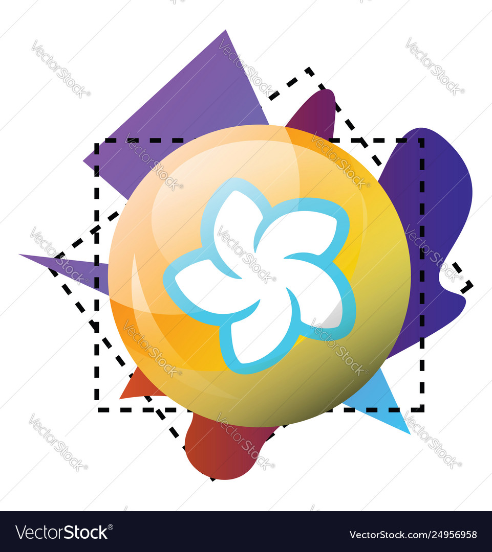 Multicolor icon a blendr platform on a white