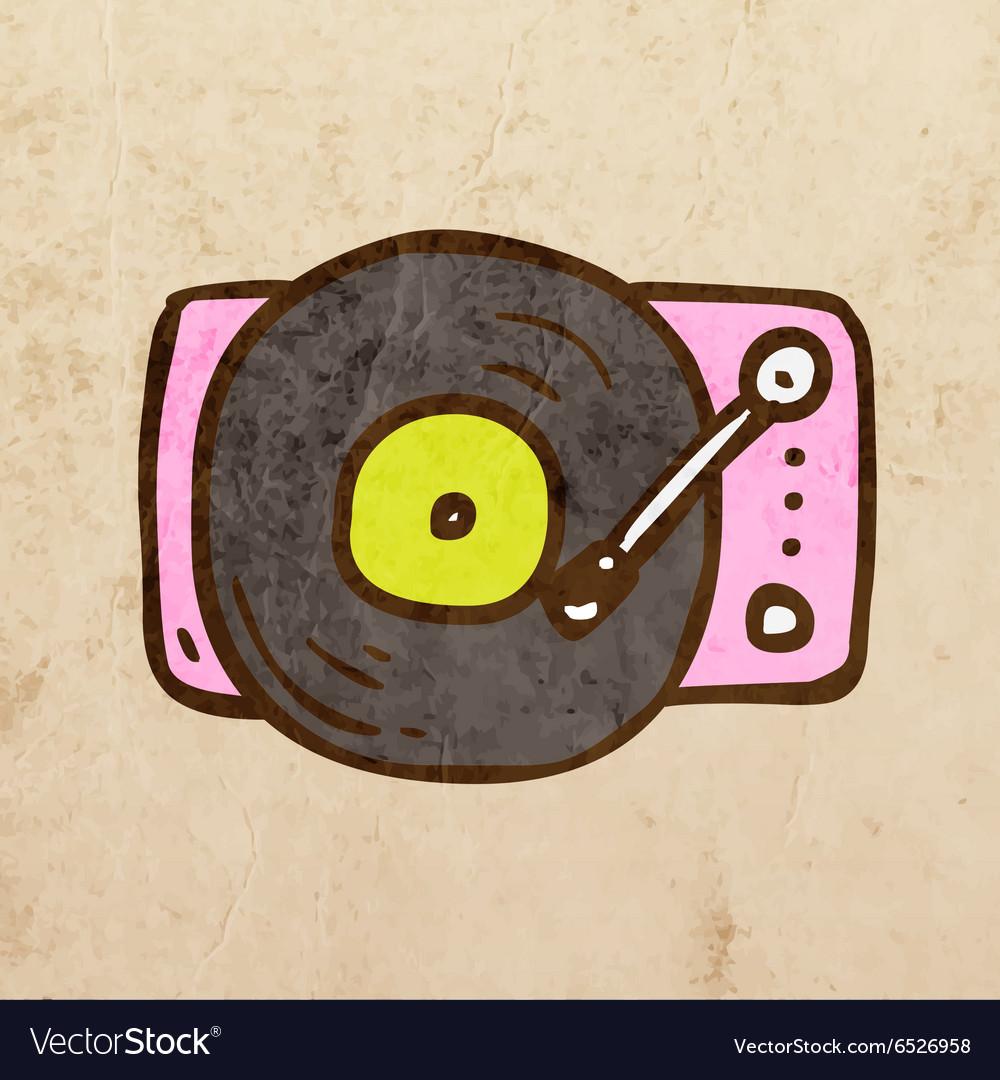Record Player Cartoon
