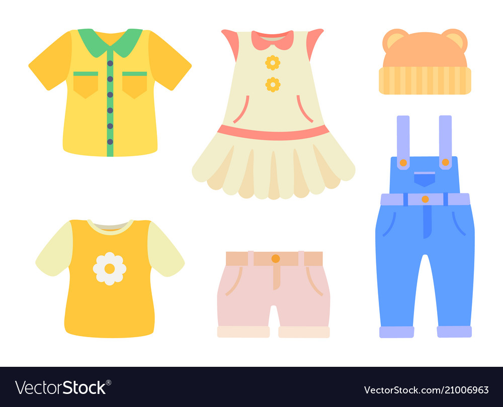 Baby Clothes Collection Poster Royalty Free Vector Image