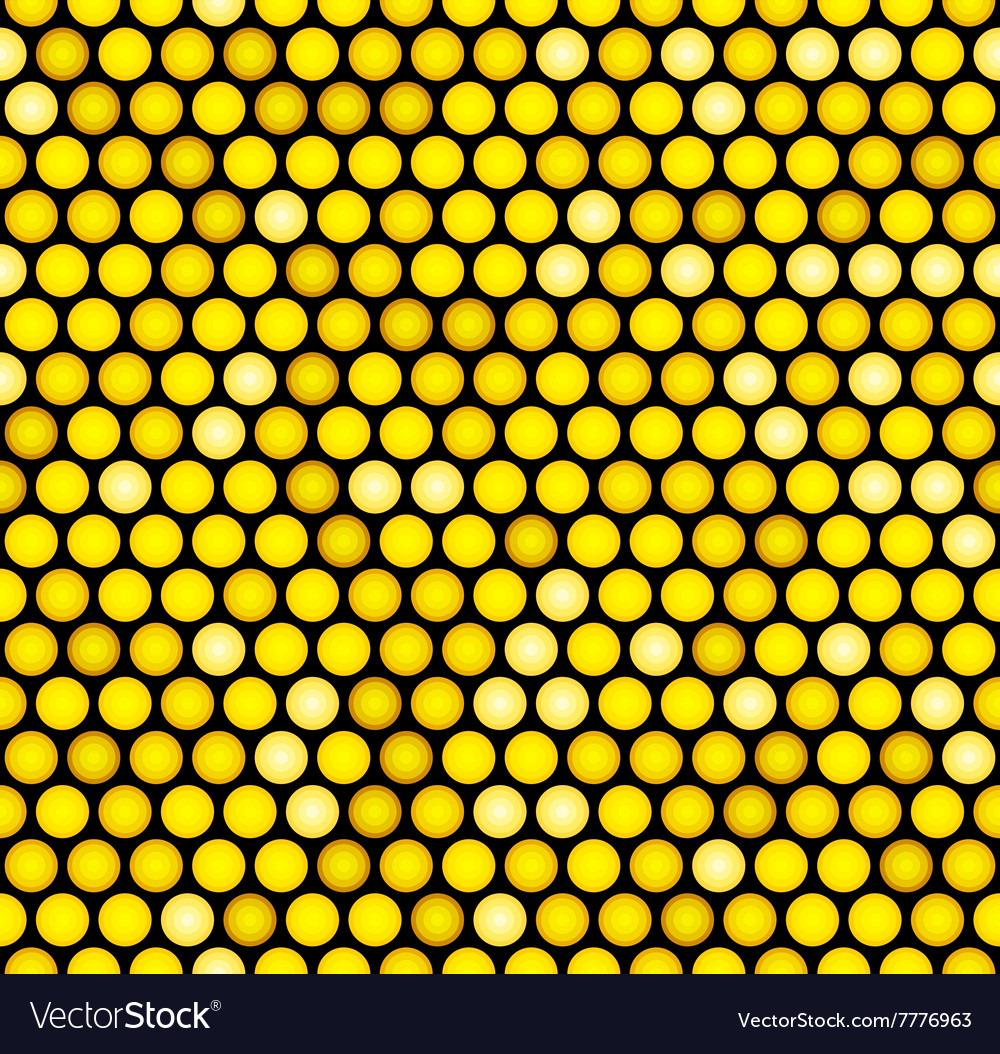 Classic Gold Dotted Seamless Glitter Pattern vector image