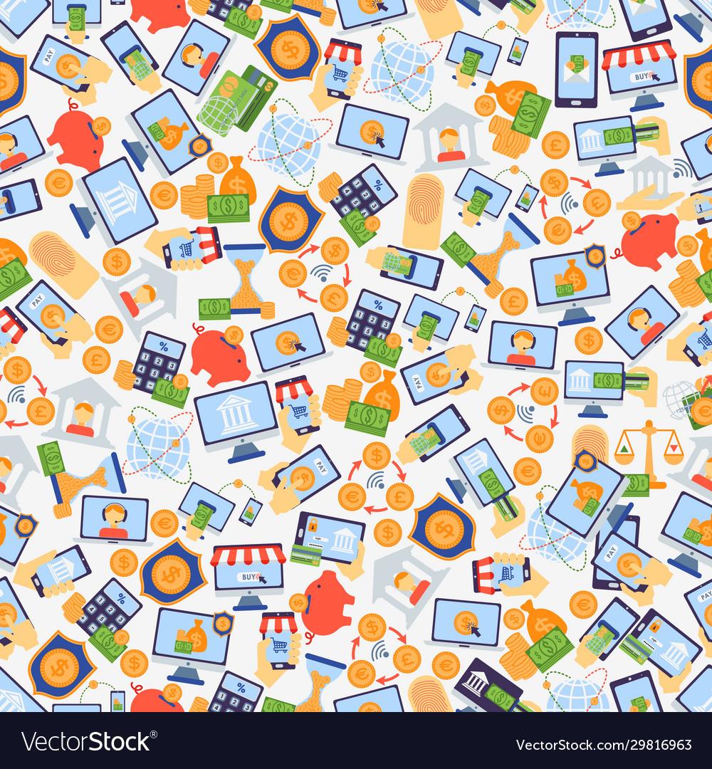 Online banking seamless pattern