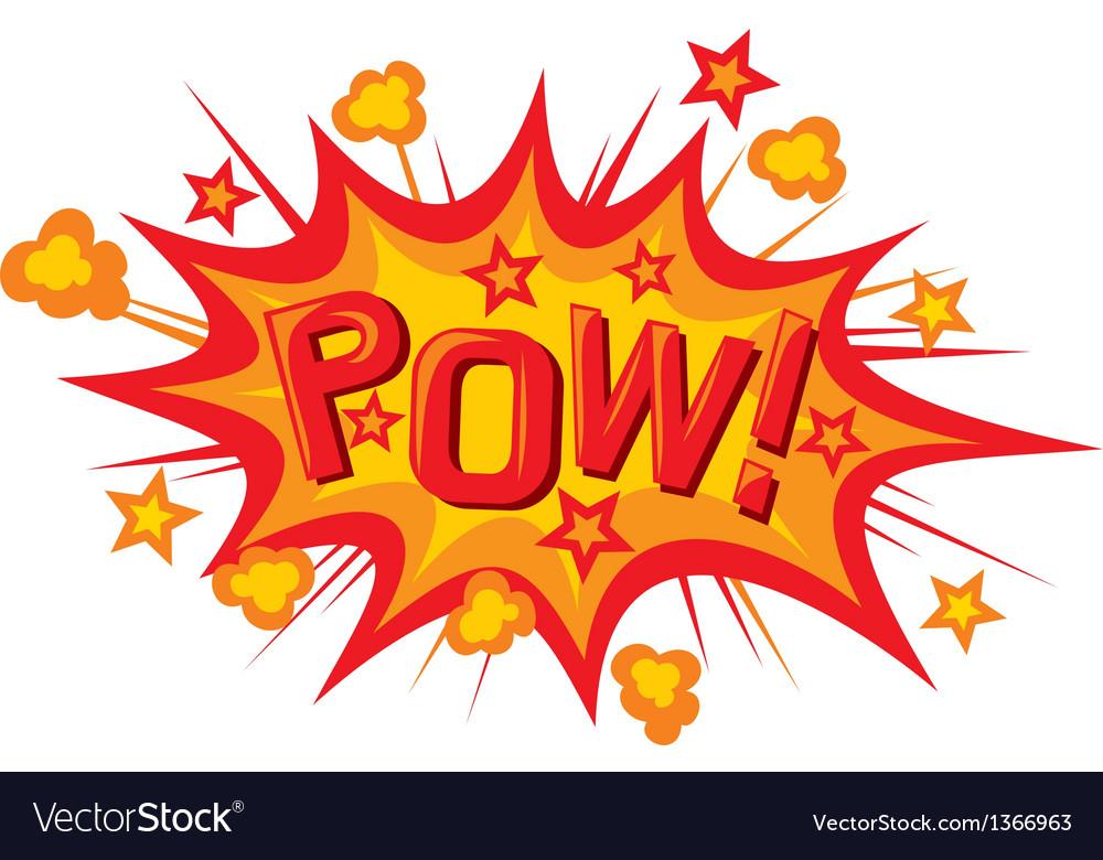 Pow comic book vector image