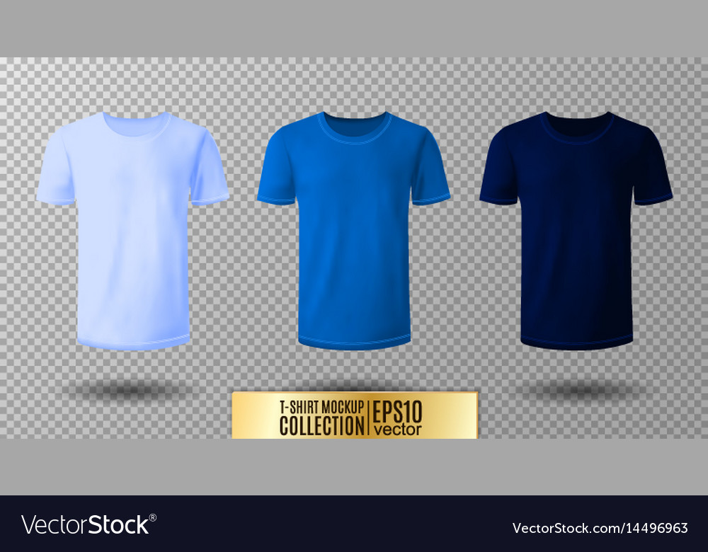 Shirt Mock Up Set T Shirt Template Light Normal Vector Image