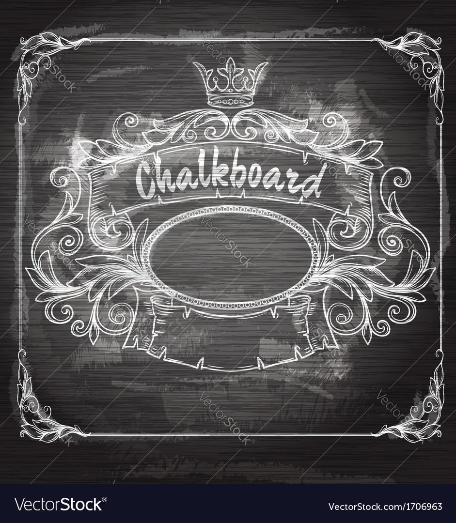 Vintage banner and chalk board vector image
