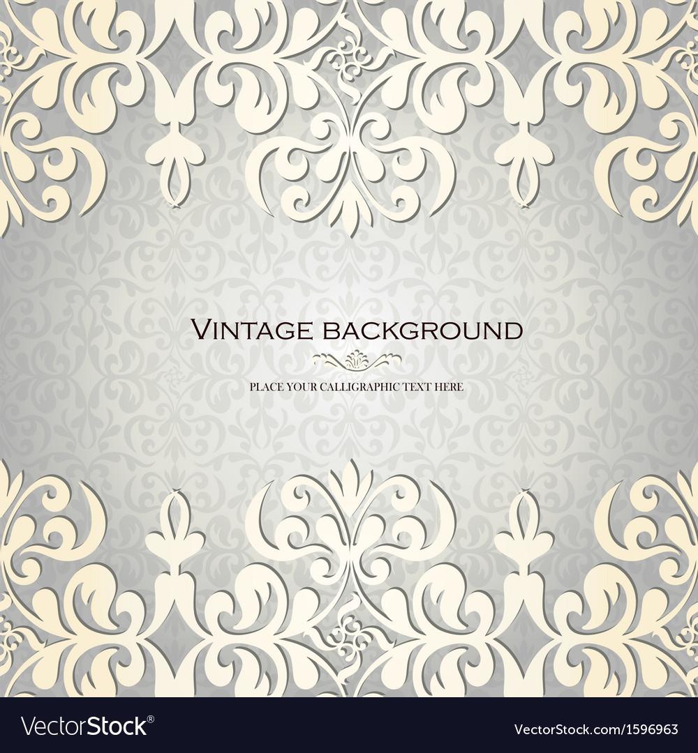 Vintage ornamental invitation card