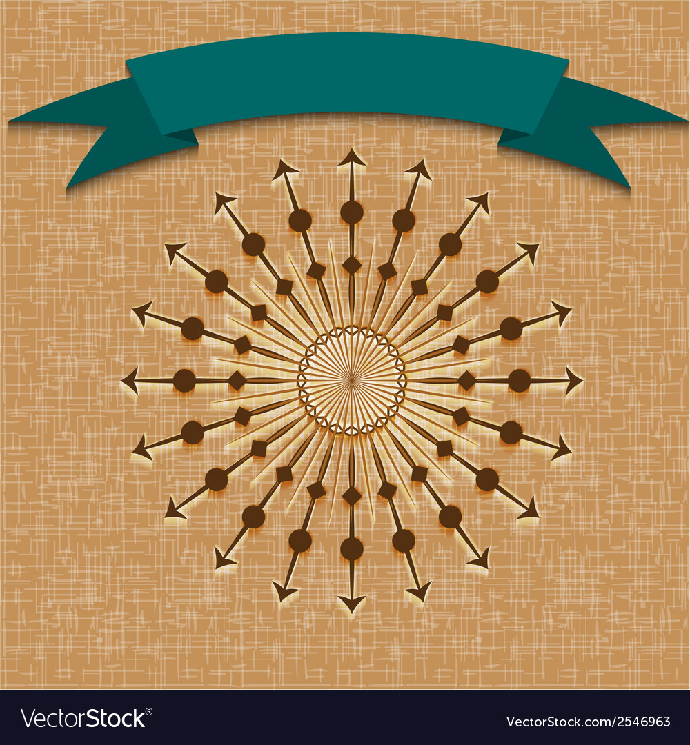 Vintage retro background with sun radial rays and