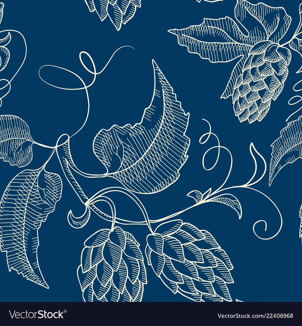 Abstract natural hand drawn seamless pattern