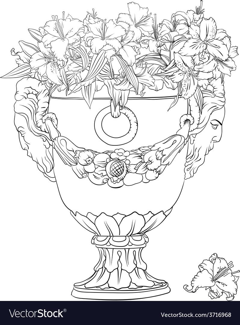 Antique flowerpot