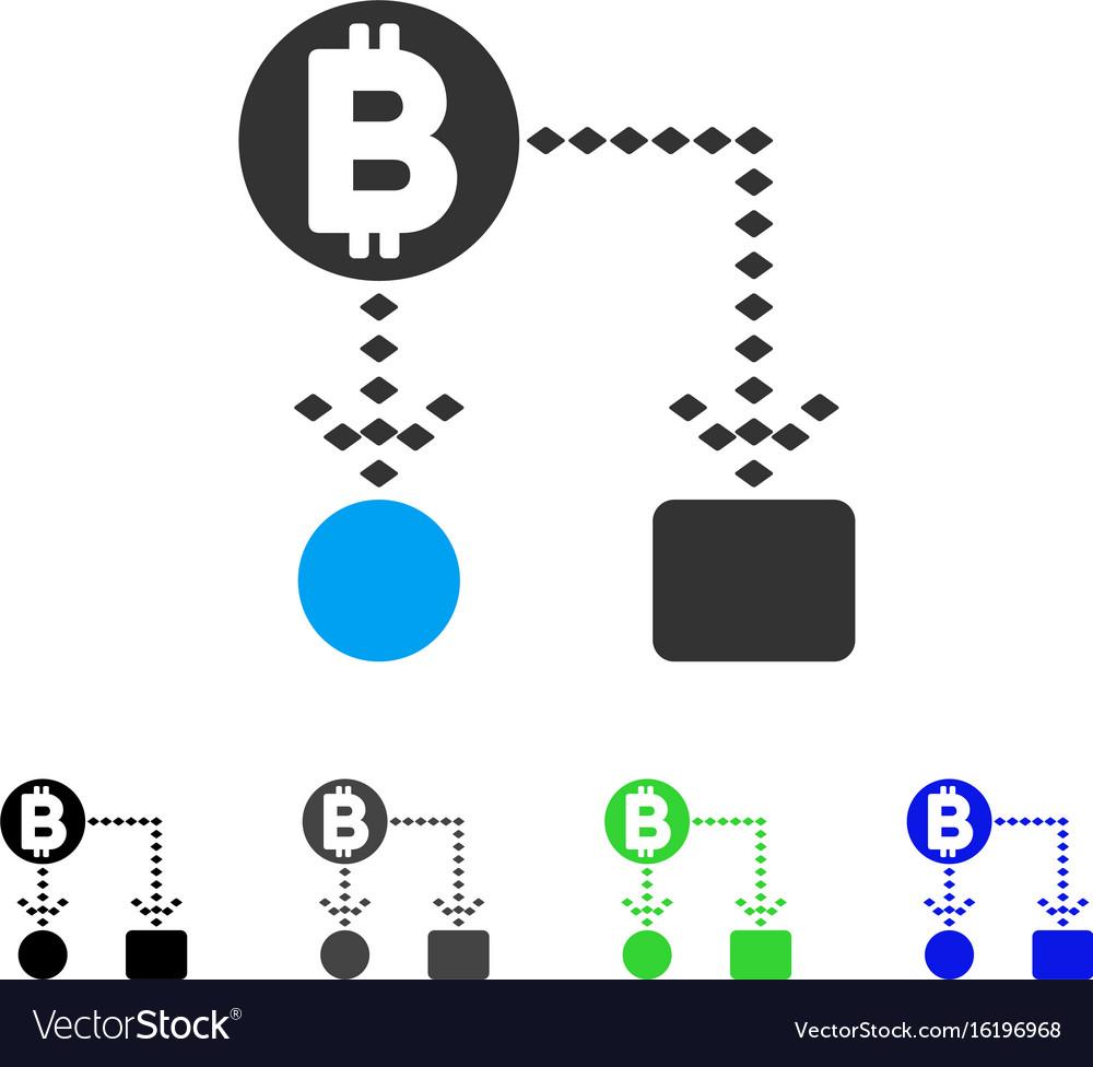 Bitcoin cashflow scheme flat icon