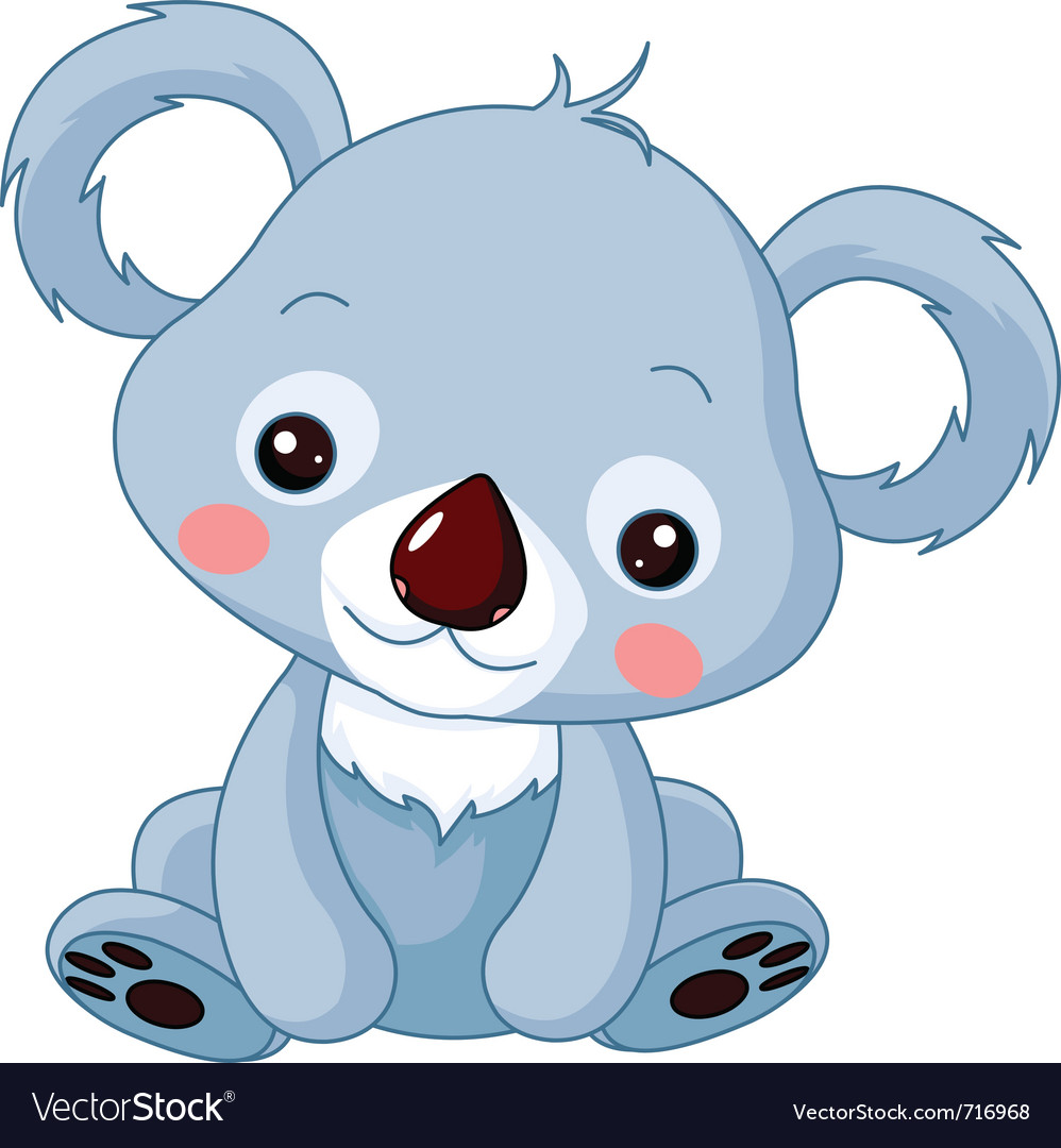 Cartoon koala bear vector image