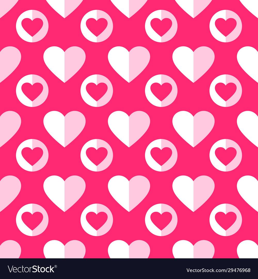 Heart seamless pattern love valentine day romantic