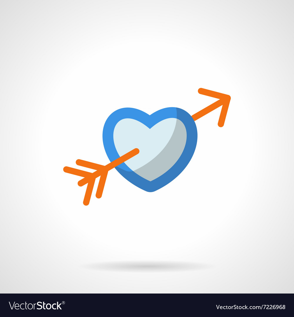 Love symbol flat color icon vector image