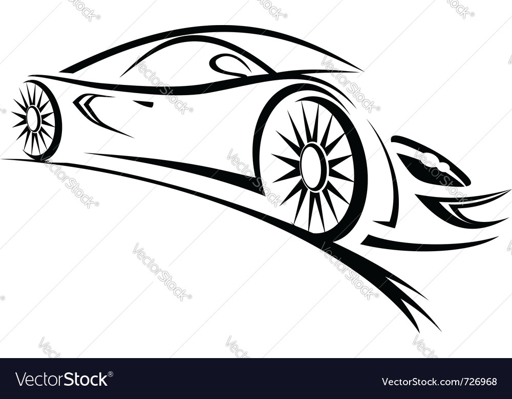Stock  Auto Racing on Racing Car Sketch Lines Vector 726968 By Seamartini