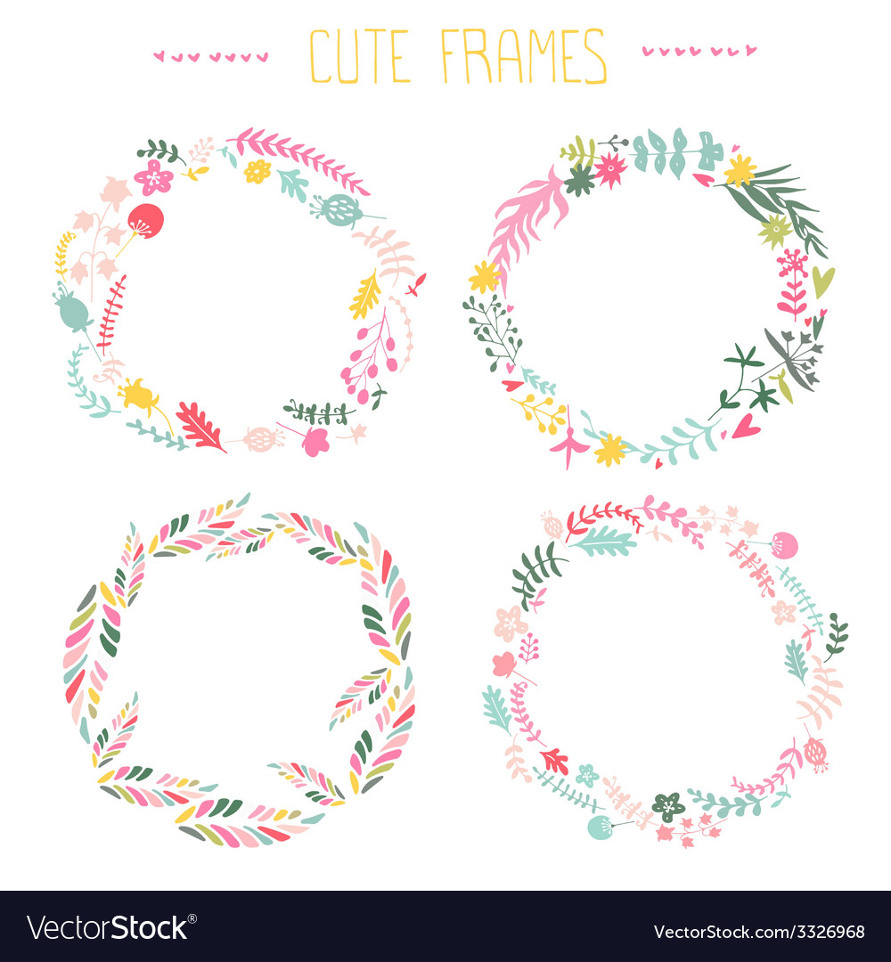 Set floral frames