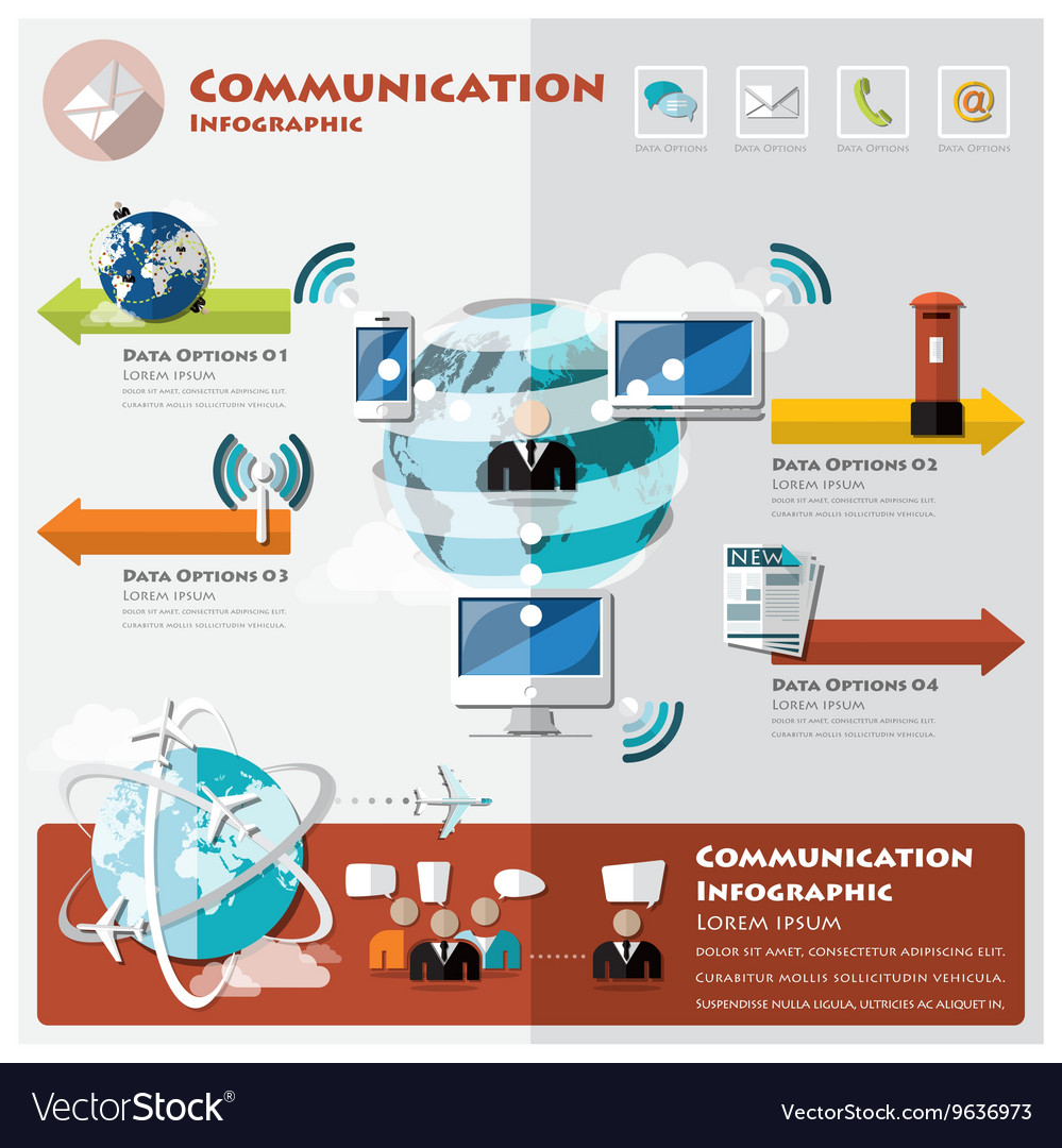 Communication And Connection Infographic Vector Image