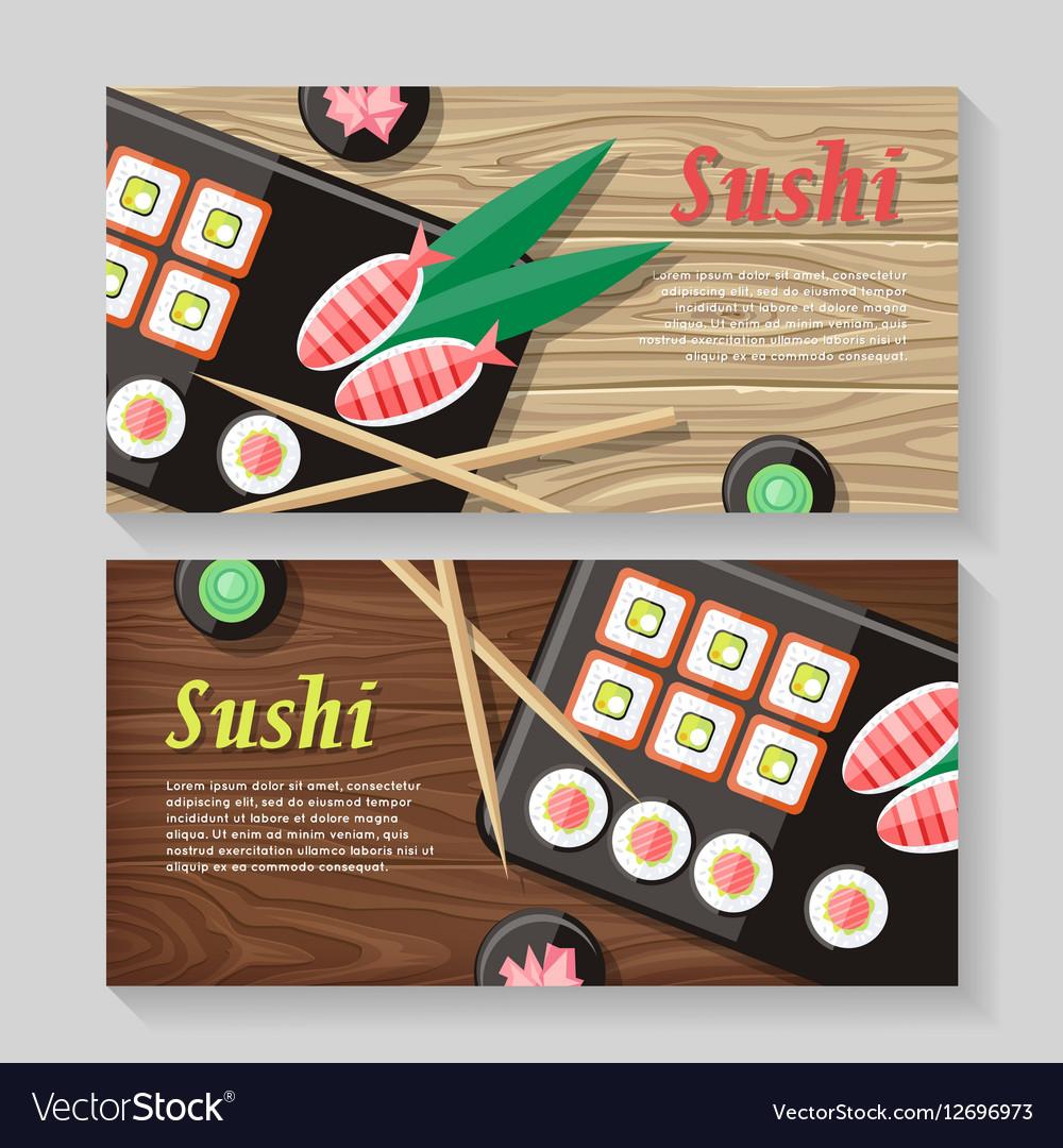 Japanese Food web Banner Japan Sushi