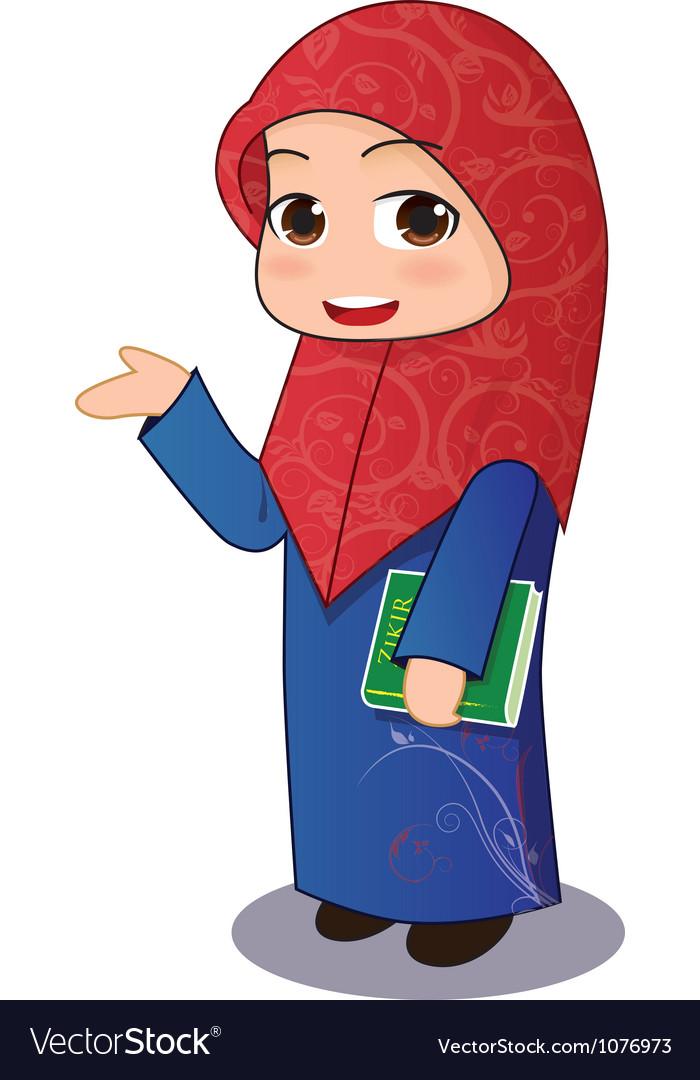 Muslim Girl Chibi