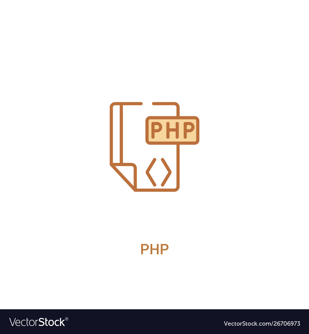 Php concept 2 colored icon simple line element
